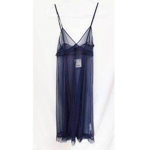 NWT Zara Sheer Slip Dress Midi